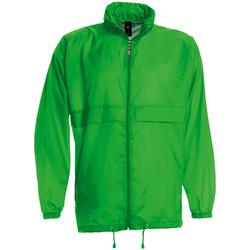 Textil Homem Corta vento B And C JU800 Verdadeiro Verde