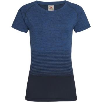 Textil Mulher T-Shirt mangas curtas Stedman  Transição Azul