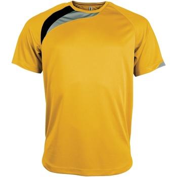 Textil Homem T-Shirt mangas curtas Kariban Proact PA436 Amarelo/ Preto/ Cinza Tempestade