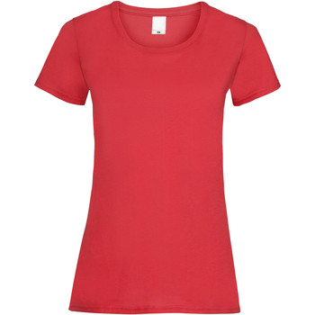 Textil Mulher T-Shirt mangas curtas Universal Textiles 61372 Vermelho Brilhante