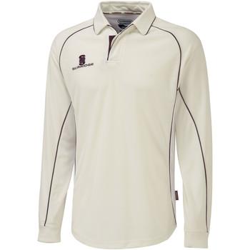 Textil Homem Polos mangas compridas Surridge  Branco/Maroon guarnição