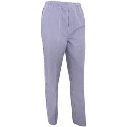Textil Calças finas / Sarouels Premier  Cheque da Marinha/ Branco