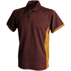 Textil Homem Polos mangas curta Finden & Hales Piped Maroon/ Amber/ Amber