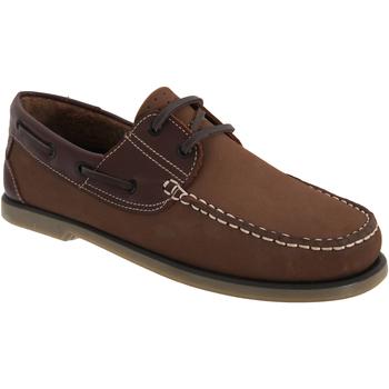Sapatos Homem Sapato de vela Dek  Brown Nubuck/Leather