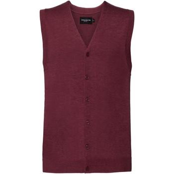 Textil Homem Casacos de malha Russell J719M Cranberry Marl