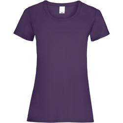 Textil Mulher T-Shirt mangas curtas Universal Textiles 61372 Uva