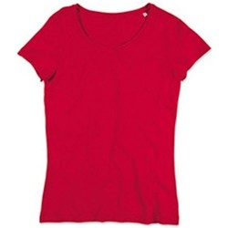 Textil Mulher T-Shirt mangas curtas Stedman Stars Sharon Vermelho carmesim
