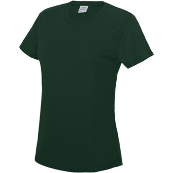 Textil Mulher T-Shirt mangas curtas Awdis JC005 Garrafa Verde