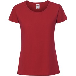 Textil Mulher T-Shirt mangas curtas Fruit Of The Loom SS424 Vermelho