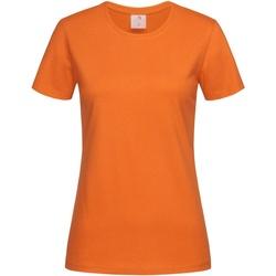 Textil Mulher T-Shirt mangas curtas Stedman  Orange