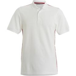 Textil Homem Polos mangas curta Kustom Kit KK603 Branco/ Vermelho