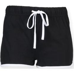 Textil Mulher Shorts / Bermudas Skinni Fit SK069 Preto/ Branco