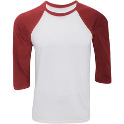 Textil Homem T-shirt mangas compridas Bella + Canvas CA3200 Branco/vermelho
