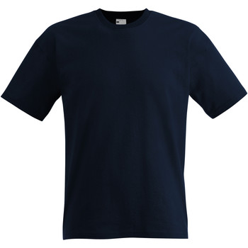 Textil Homem T-Shirt mangas curtas Universal Textiles 61082 Meia-noite Azul