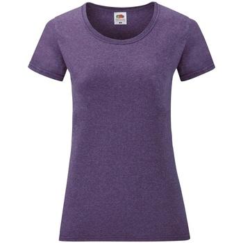 Textil Mulher T-Shirt mangas curtas Fruit Of The Loom 61372 Heather Purple