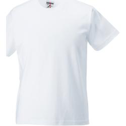 Textil Criança T-Shirt mangas curtas Jerzees Schoolgear ZT180B Branco