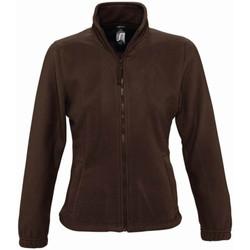 Textil Mulher Casaco polar Sols 54500 Chocolate Escuro
