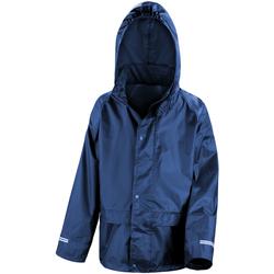 Textil Criança Corta vento Result R227J Azul-marinho
