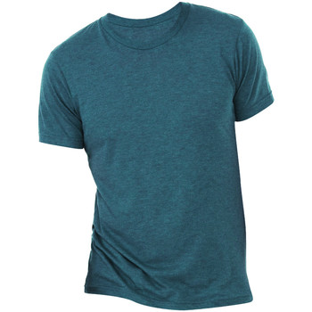 Textil Homem T-Shirt mangas curtas Bella + Canvas CA3413 Aço Azul Triblend