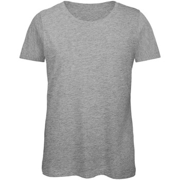 Textil Mulher T-Shirt mangas curtas B And C TW043 Sport Grey