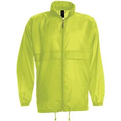 Textil Homem Corta vento B And C JU800 Ultra Amarelo