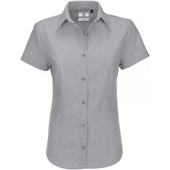 Textil Mulher camisas B And C SWO04 Lua de Prata