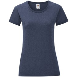 Textil Mulher T-Shirt mangas curtas Fruit Of The Loom 61432 Heather Navy