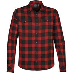 Textil Homem Camisas mangas comprida Stormtech Logan Negro/Vermelho Liso