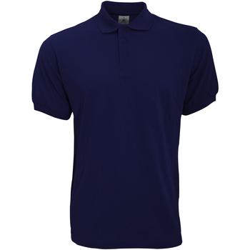 Textil Homem Polos mangas curta B And C PU409 Azul-marinho