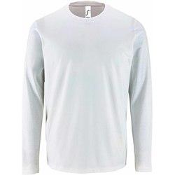 Textil Homem T-shirt mangas compridas Sols 2074 Branco