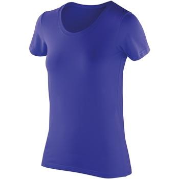 Textil Mulher T-Shirt mangas curtas Spiro SR280F Safira
