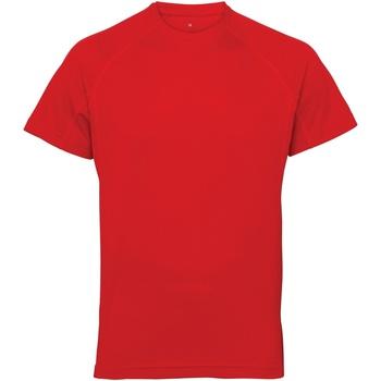 Textil Homem T-Shirt mangas curtas Tridri TR011 Vermelho Fogo