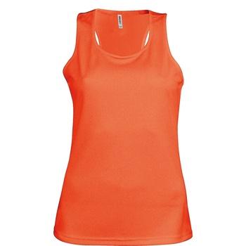 Textil Mulher Tops sem mangas Kariban Proact Proact Laranja Fluorescente