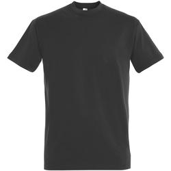 Textil Homem T-Shirt mangas curtas Sols 11500 Cinza Escuro