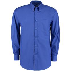 Textil Homem Camisas mangas comprida Kustom Kit KK105 Royal Blue