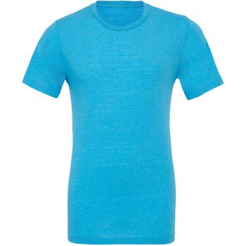 Textil Homem T-Shirt mangas curtas Bella + Canvas CA3413 Aqua Triblend