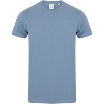 Textil Homem T-Shirt mangas curtas Skinni Fit SF121 Azul Pedra