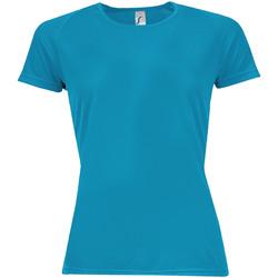Textil Mulher T-Shirt mangas curtas Sols 01159 Aqua
