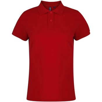 Textil Mulher Polos mangas curta Asquith & Fox  Cherry Red