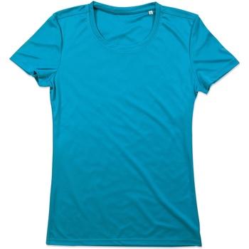 Textil Mulher T-Shirt mangas curtas Stedman  Azul Hawaii