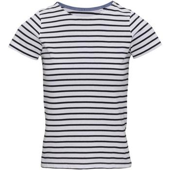 Textil Mulher T-Shirt mangas curtas Asquith & Fox AQ073 Branco/Navio