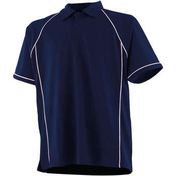 Textil Criança Polos mangas curta Finden & Hales LV372 Marinha/ Branco