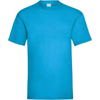 Textil Homem T-Shirt mangas curtas Universal Textiles 61036 Ciano