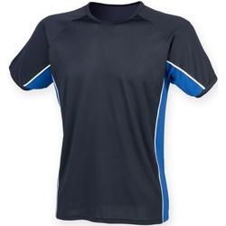Textil Criança T-Shirt mangas curtas Finden & Hales LV242 Marinha/ Royal/ White