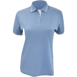 Textil Mulher Polos mangas curta Kustom Kit Mellion Azul claro/branco