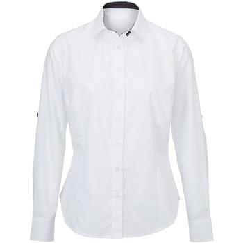 Textil Mulher camisas Alexandra AX060 Branco/ Negro