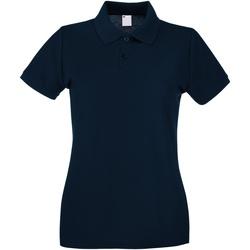 Textil Mulher Polos mangas curta Universal Textiles 63030 Meia-noite Azul