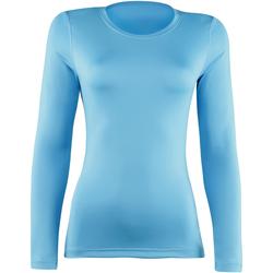 Textil Mulher T-shirt mangas compridas Rhino  Azul claro