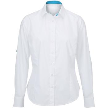 Textil Mulher camisas Alexandra AX060 Branco/ Peacock