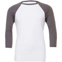 Textil Homem T-shirt mangas compridas Bella + Canvas CA3200 Branco/Asphalt